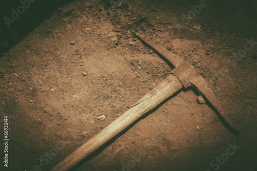 Fotografia, Obraz  Pickaxe on the Ground