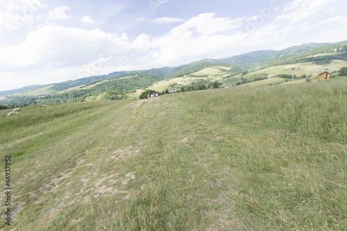 Keuken foto achterwand Olijf Na zboczu góry Homole, Pieniny, Polska