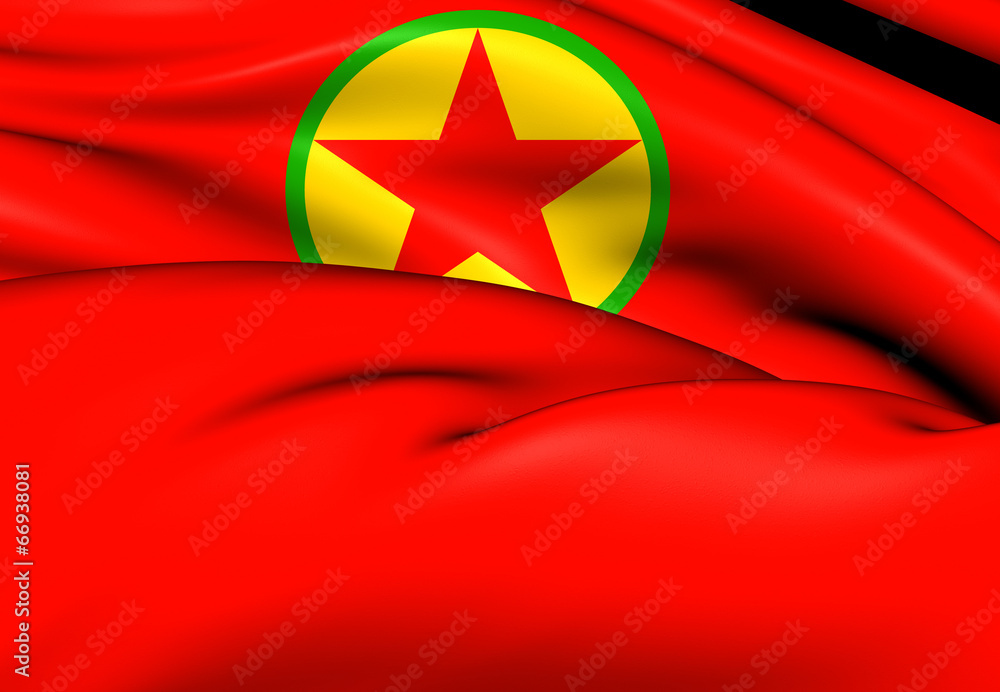 Flag of Kurdistan Workers\' Party Foto, Poster, Wandbilder bei ...