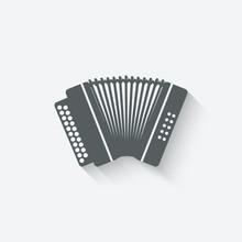 Accordion Music Design Element