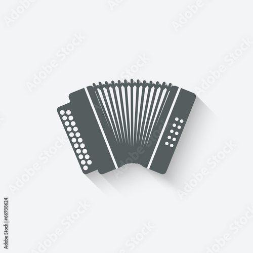 Fotografía  accordion music design element