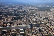 Rome Aerial View With Termini ...