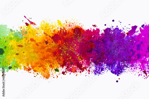 Autocollant pour porte Forme Abstract artistic watercolor splash background
