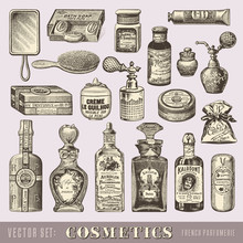 Beauty And Cosmetics - Set Of ...