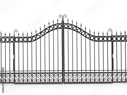 Fototapeta Black iron gate