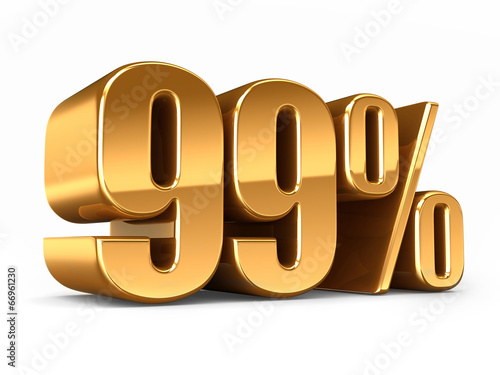 Photographie  3d render of a Gold 99 percent