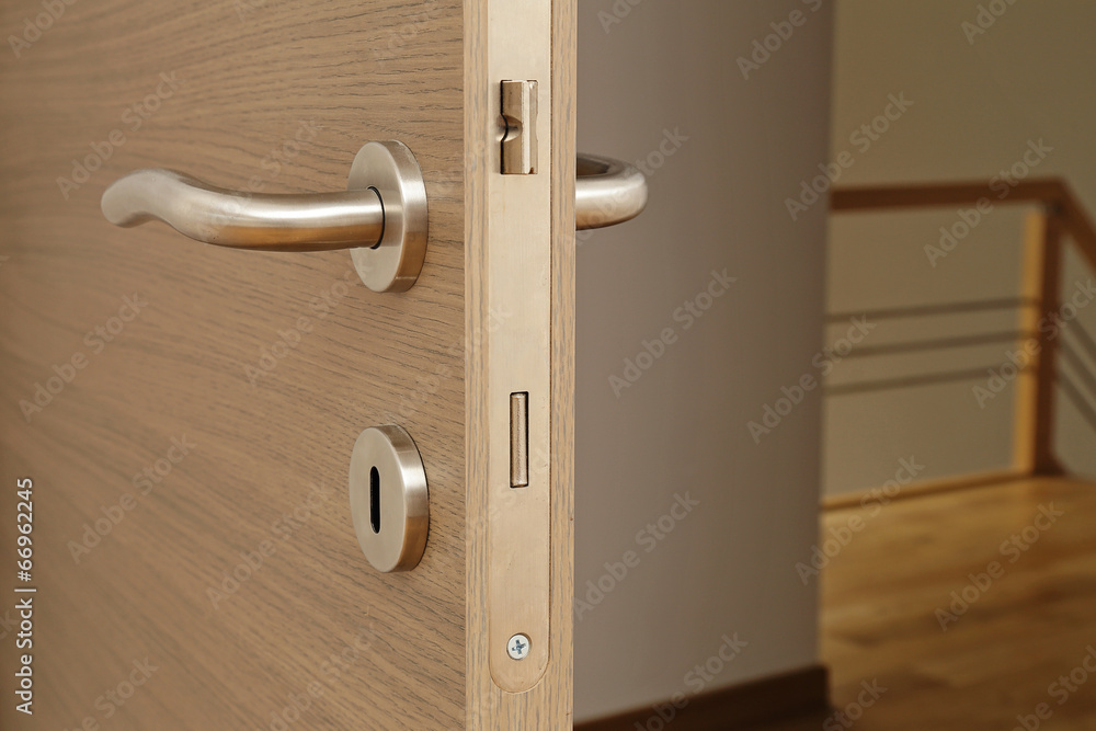 Fototapeta poignée et serrure de porte intérieur maison