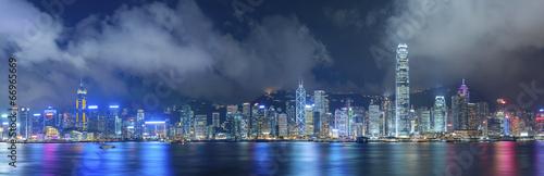 Montage in der Fensternische Hongkong Victoria Harbor of Hong Kong