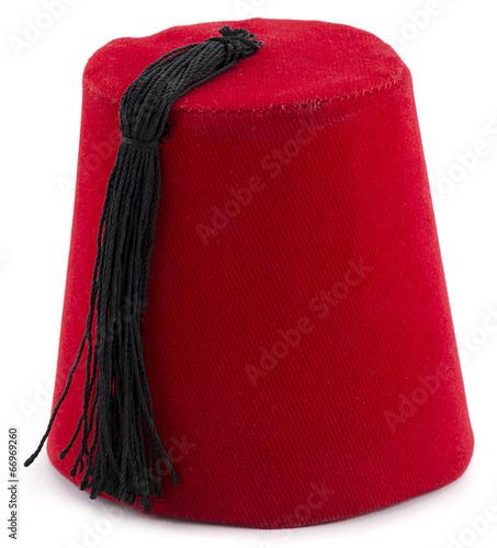 Cuadros en Lienzo  Turkish hat fez isolated on white