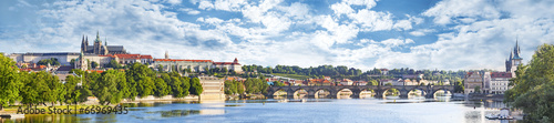 Spoed Foto op Canvas Praag Panoramic view of Prague, Czech Republic.