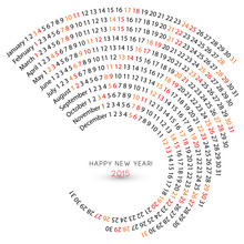 2015 Calendar, Spiral Illustra...