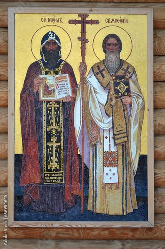 Fotografie, Obraz  The Holy equal to the apostles Cyril and Methodius