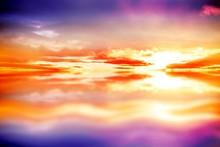 Purple Sky With Orange Clouds