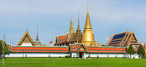 Poster Bangkok Grand Palace and Temple of Emerald Buddha complex in Bangkok, Th