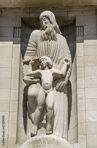 Photo  BBC Facade statue