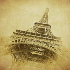 FototapetaVintage image of Eiffel tower, Paris, France