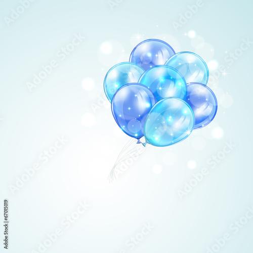 Foto op Plexiglas Groene Blue balloons