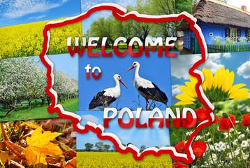 Fototapeta Do hotelu welcome to Poland
