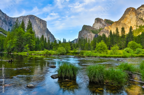 Yosemite Nationa Park at sunset Wallpaper Mural