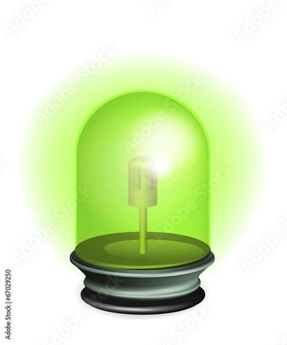 Photo Gyrophare vert illustration vecteurs