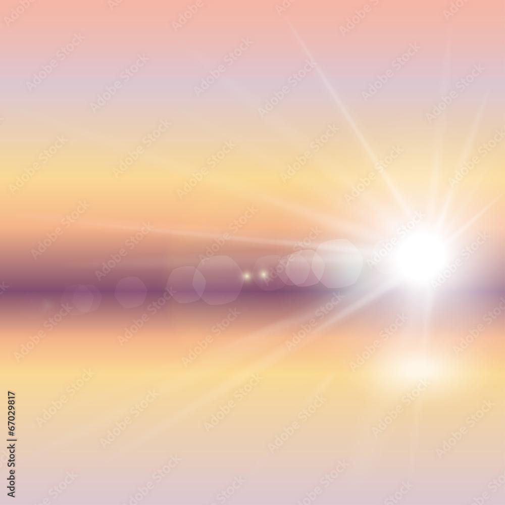 Fototapeta wschód słońca wektor