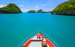canvas print picture Boat to Angthong island, Koh Samui, Thailand