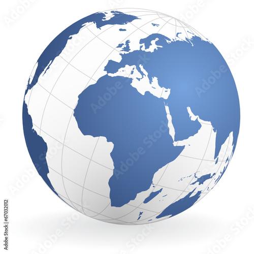 In de dag Wereldkaart Weltkugel