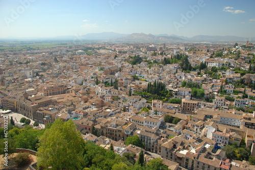 Foto op Aluminium Panorama of Granada, Spain
