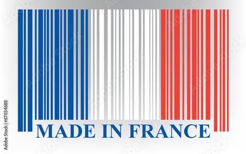 French barcode flag, vector Fototapeta