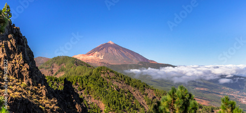 Staande foto Canarische Eilanden Panoramic of the Teide and Orotava Valley