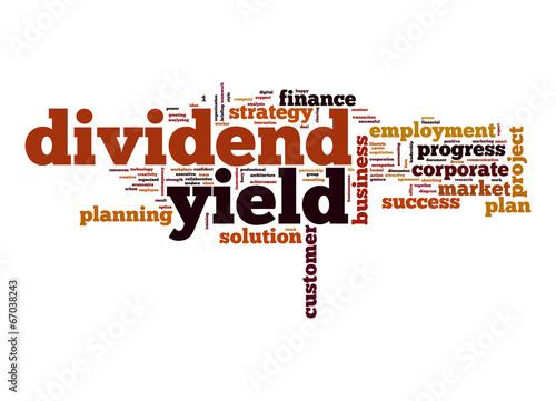 Fotografía  Dividend yield word cloud