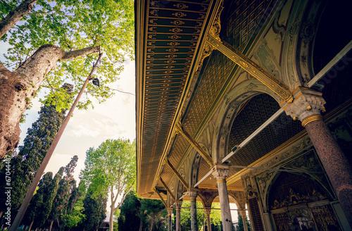Detailed view at Topkapi palace frontyard. Poster
