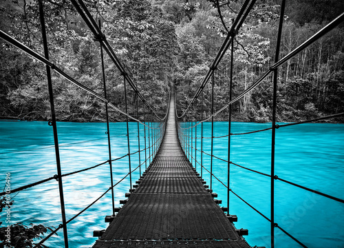 Photo sur Aluminium Ponts suspension bridge