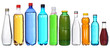collection of different bottles isolated on white