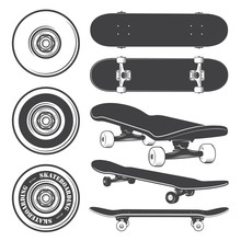 Set Of Skateboards And Skatebo...