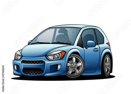 Staande foto Cartoon cars Subcompact Car 01