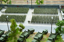 Miniature Of Soldiers In Ranks...