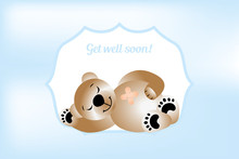 Get Will Soon Card With Bear