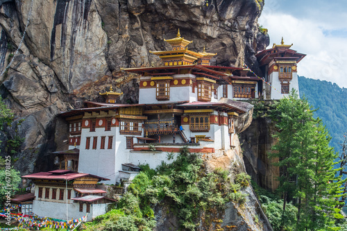 Fotografie, Obraz Taktsang Palphug Monastery Paro Bhutan