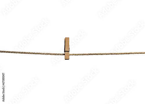 Fotomural Pinza de la ropa en la cuerda