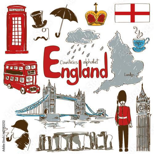 Fotografía  Collection of England icons