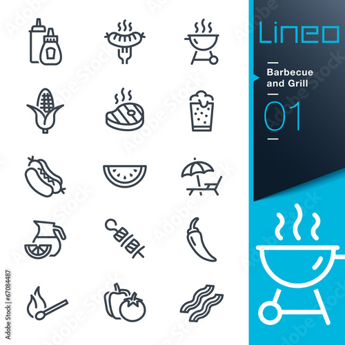 Photo Lineo - Barbecue and Grill outline icons