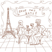 Paris Date Card