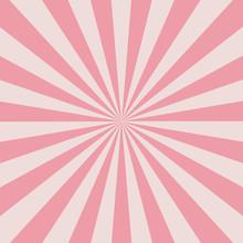 Retro Pink Rays
