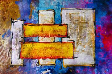Plakat Ölgemälde Gemälde Kunstdruck artprint Kunst abstrakt