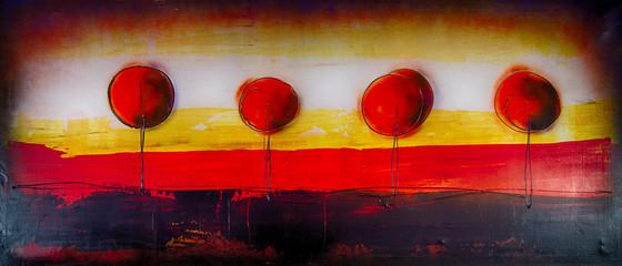 Panel Szklany PodświetlaneBaum Bäume abstrakt Ölgemälde Gemälde Kunstdruck artprint Kunst