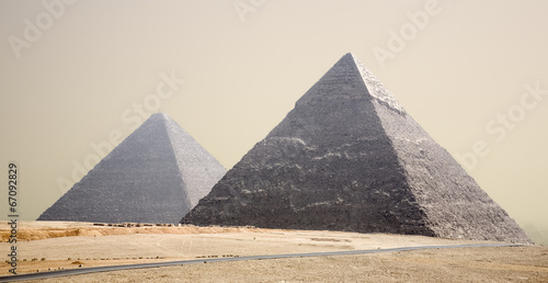 Pirámides Canvas Print