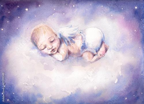 Fototapeta Śpiący aniołek