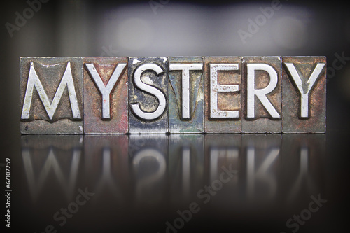 Mystery Letterpress Fototapet