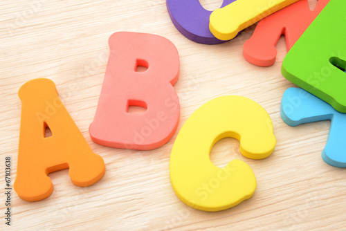 Fotografie, Obraz  アルファベットのおもちゃ